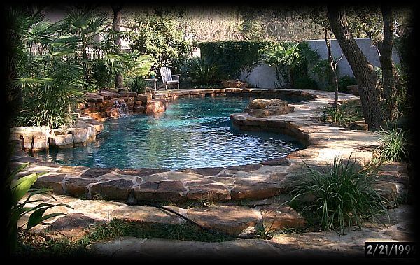 Shows allen landscape architects sample swimming for Pool show san antonio